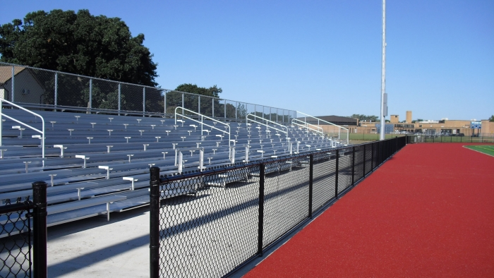 Black Chainlink Fence Around Running Track