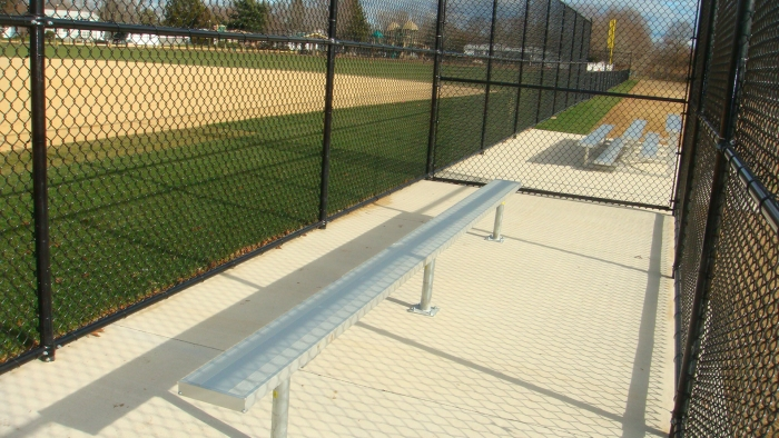 Black Chain Link Baseball Dugout Fence