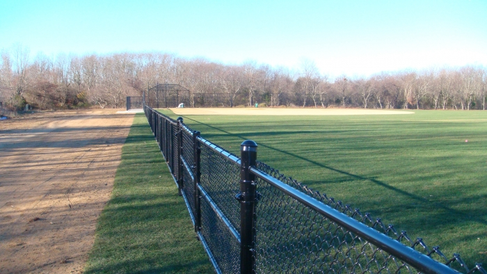 Black Chain Link Ballfield Fence